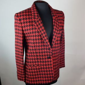 Giorgio Sant Angelo Wool Houndstooth Jacket